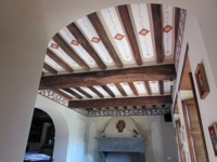 Decorazione Soffitto Travi 2
